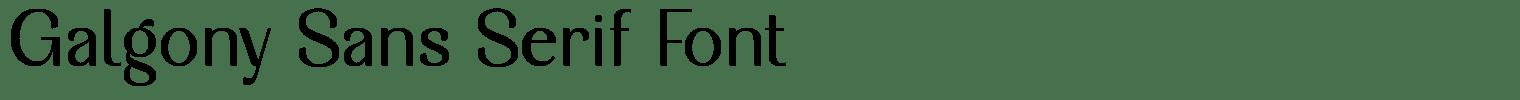 Galgony Sans Serif Font