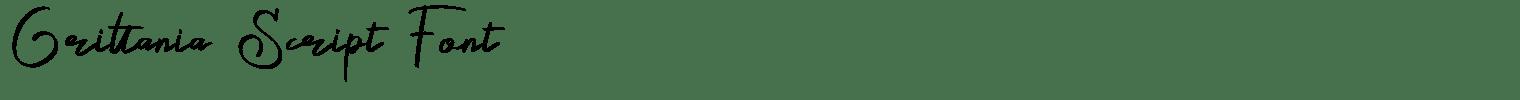 Grittania Script Font