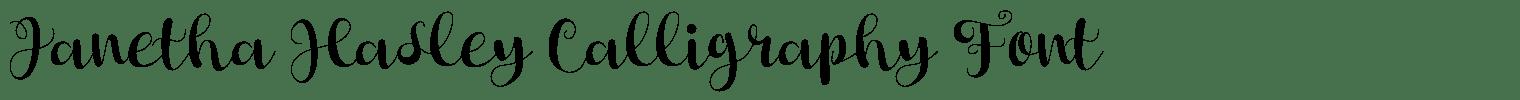 Janetha Hasley Calligraphy Font