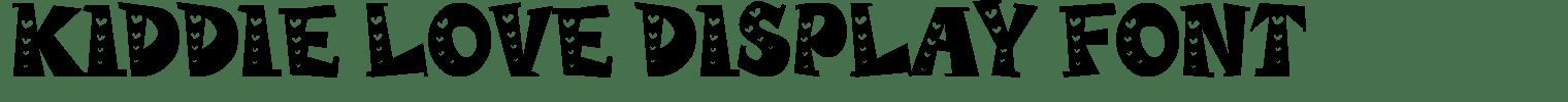 Kiddie Love Display Font