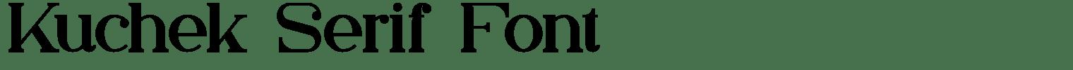 Kuchek Serif Font