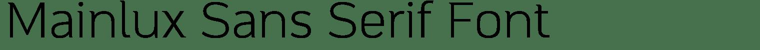 Mainlux Sans Serif Font