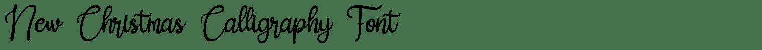 New Christmas Calligraphy Font