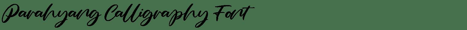 Parahyang Calligraphy Font