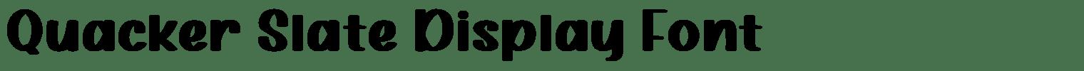 Quacker Slate Display Font
