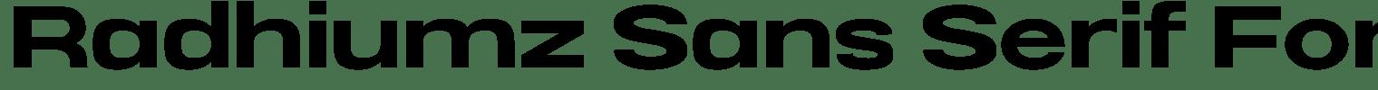 Radhiumz Sans Serif Font