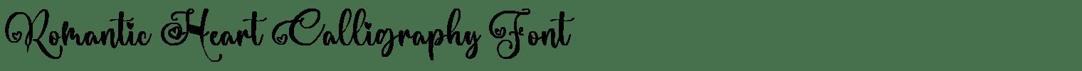 Romantic Heart Calligraphy Font