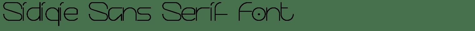 Sidiqie Sans Serif Font