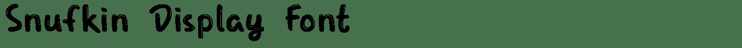 Snufkin Display Font