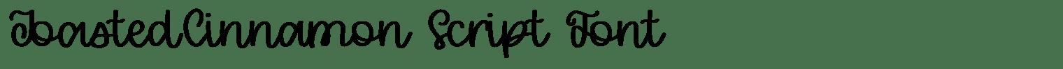 ToastedCinnamon Script Font