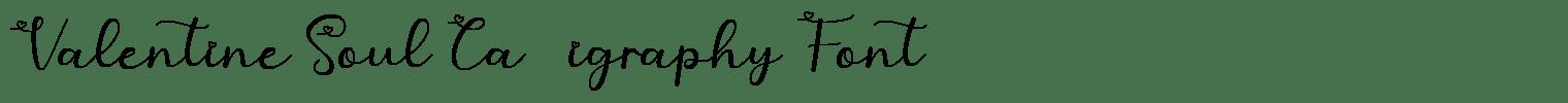 Valentine Soul Calligraphy Font