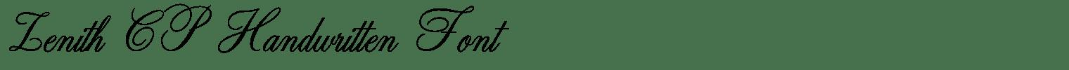 Zenith CP Handwritten Font
