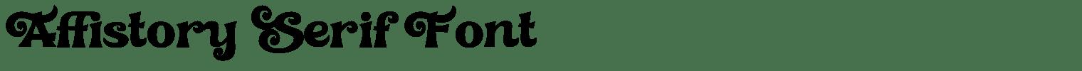 Affistory Serif Font