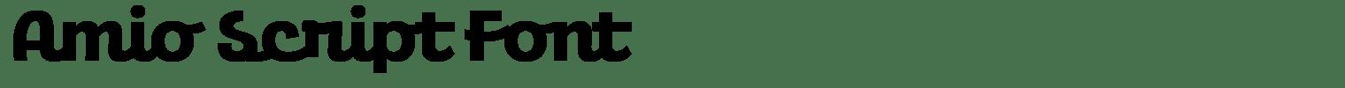 Amio Script Font