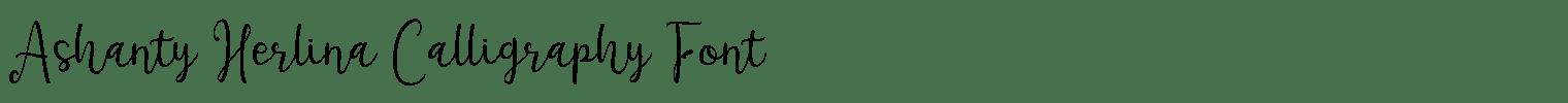 Ashanty Herlina Calligraphy Font