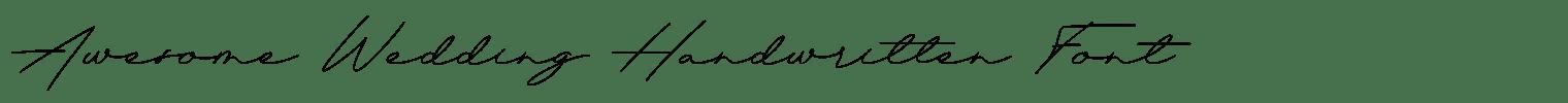 Awesome Wedding Handwritten Font