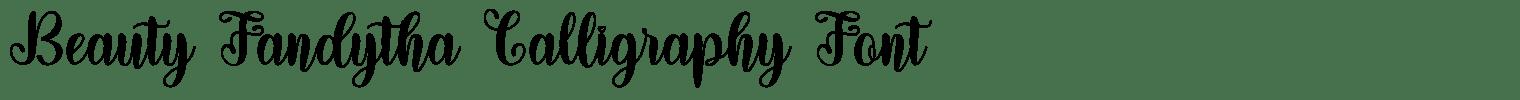 Beauty Fandytha Calligraphy Font