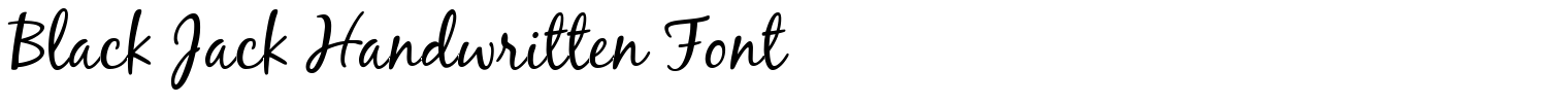 Black Jack Handwritten Font