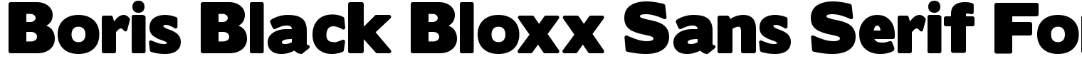 Boris Black Bloxx Sans Serif Font