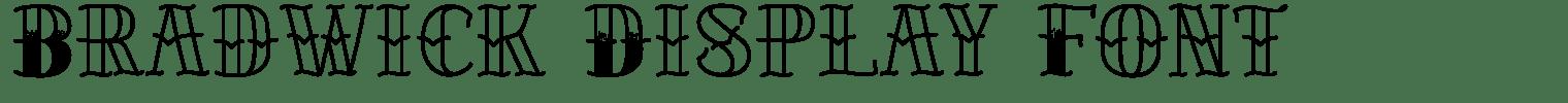 Bradwick Display Font