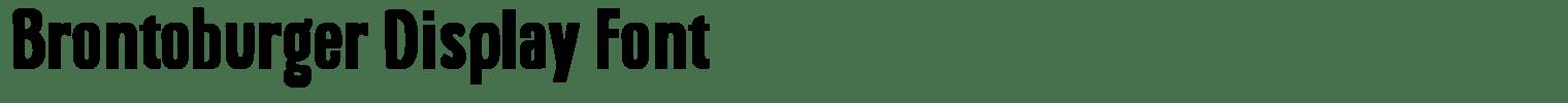 Brontoburger Display Font