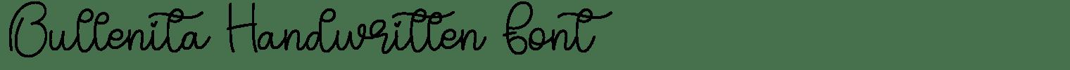 Bullenita Handwritten Font