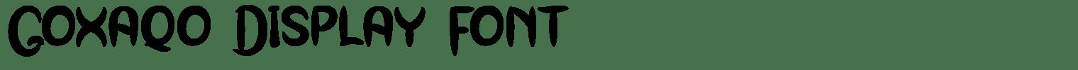 Goxaqo Display Font