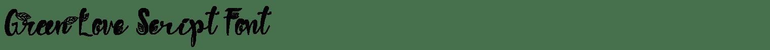 Green Love Script Font