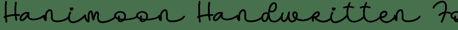 Hanimoon Handwritten Font