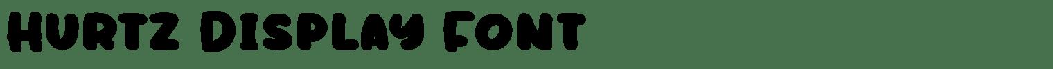 Hurtz Display Font