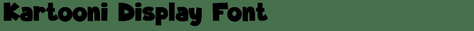 Kartooni Display Font
