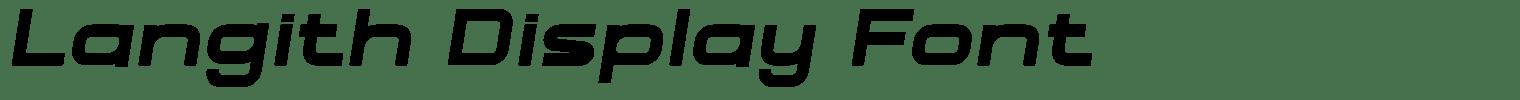 Langith Display Font