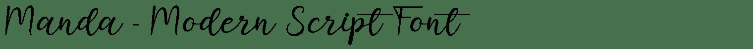 Manda – Modern Script Font