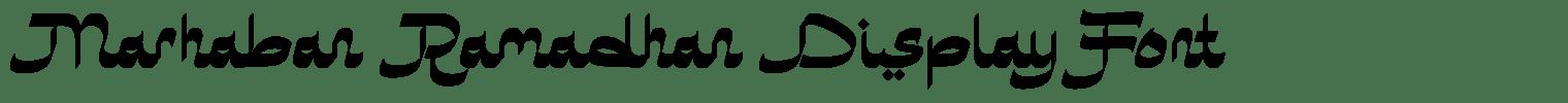 Marhaban Ramadhan Display Font