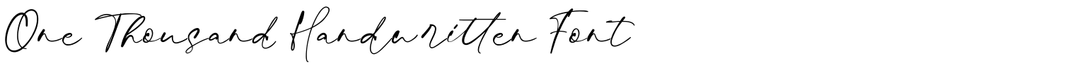 One Thousand Handwritten Font