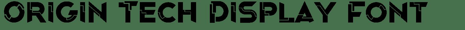 Origin Tech Display Font
