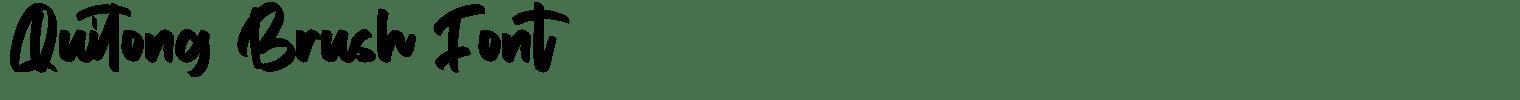 Quitong Brush Font