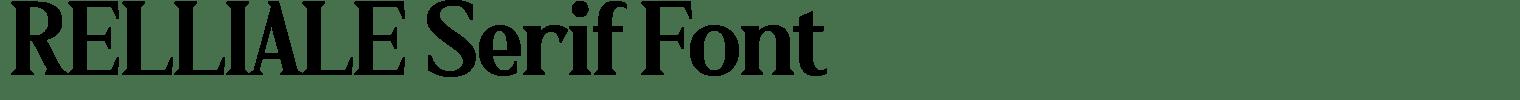 RELLIALE Serif Font