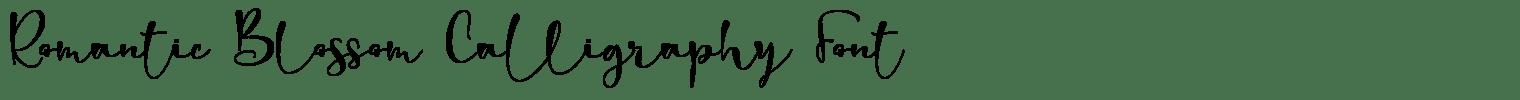 Romantic Blossom Calligraphy Font