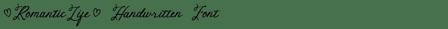 Romantic Life Handwritten Font
