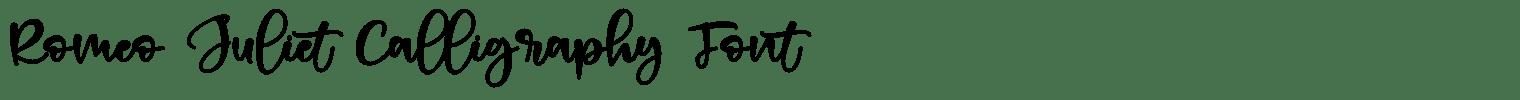 Romeo Juliet Calligraphy Font