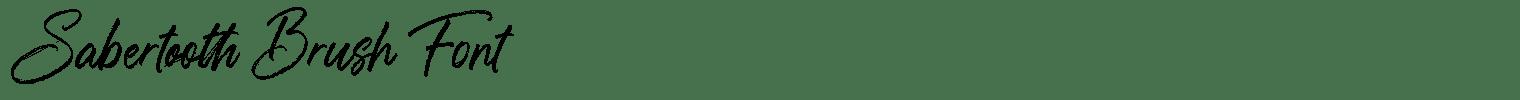 Sabertooth Brush Font