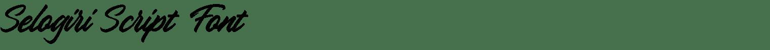 Selogiri Script Font