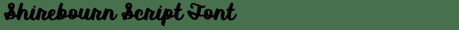 Shirebourn Script Font