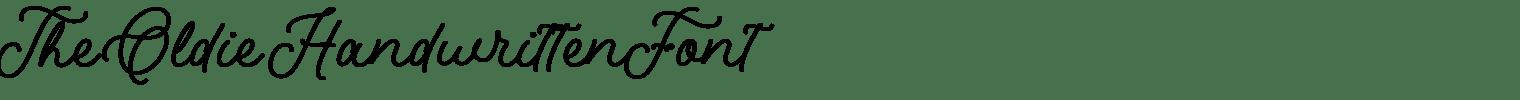 The Oldie Handwritten Font