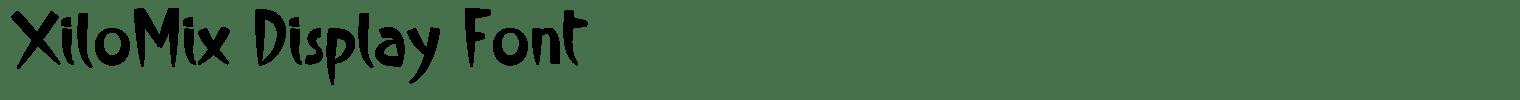 XiloMix Display Font