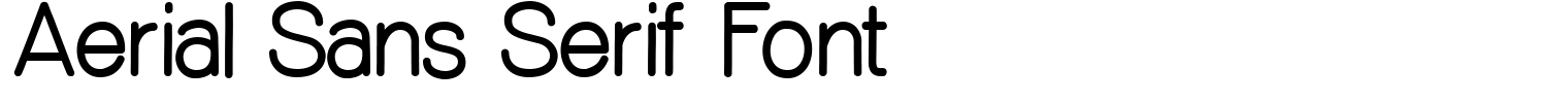 Aerial Sans Serif Font