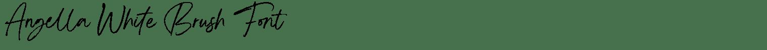 Angella White Brush Font