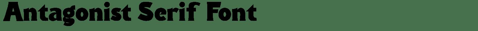 Antagonist Serif Font