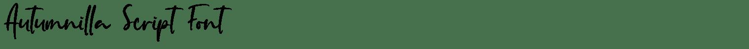 Autumnilla Script Font